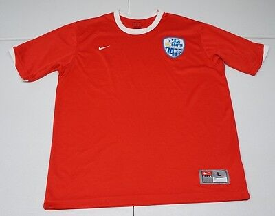 Nike Mens L Red Cal South 74ODP Polyester Dri-Fit  Soccer Jersey