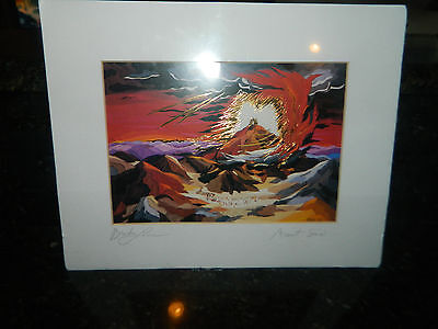 "NEW SIGNED Print of ""Mount Sinai"" by Bracha Lavee Gorgeous 9x12"