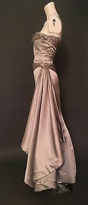 VALENTINO VNTG Wedding Dress_Gown_ Silver_early 90's_RARE_UK 8_36_US 4_SILK