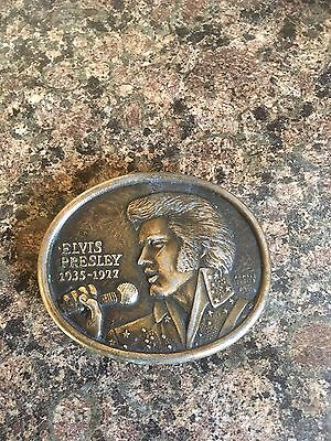 Elvis Presley Official Commemorative Memorial Belt Buckle 1977 First Edition