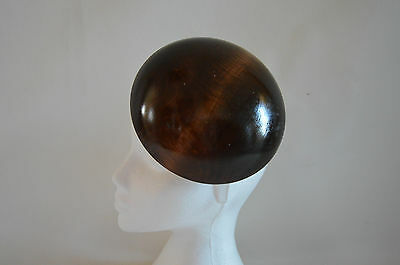 Large button shaped wooden hat block/ Fascinator 179 mm