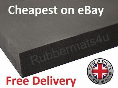 Black PLAIN NEOPRENE SPONGE / FOAM Rubber Sheet 1M WIDE X 1.5mm - 12mm Thickness