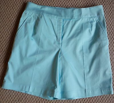 Nike - NEW Women's golf shorts in pale blue - size GB 14