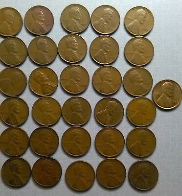 1934-1940 lincoln cents - 59 coins