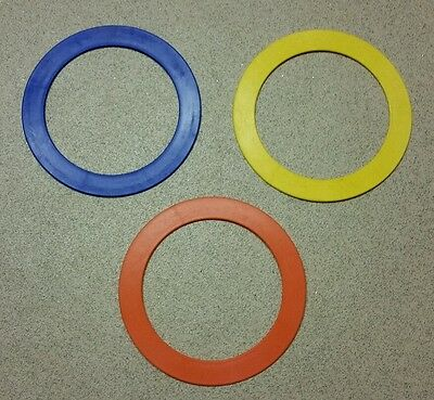 "Set of 3 Juggling Rings 9.5"" Circus Skills Plastic"