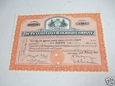 Pennsylvania Railroad Common Stock Certificates Shares Canceled Fallen Flag