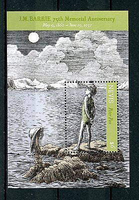 Nevis 2012 MNH JM Barrie 75th Memorial Anniv 1v S/S Peter Pan Writers Stamps