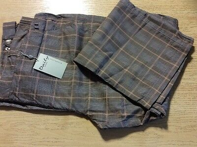 """Daily Sports Ladies Water Resistant Trousers Grey/pink Check Size 18 (29"""" Leg)"""