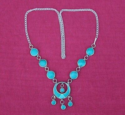 Afghan Kuchi Turquoise Necklace Vintage Antique Tribal Traditional Silver Old