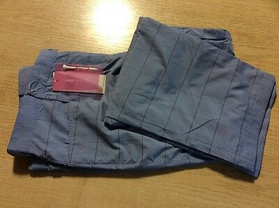 """Ping Ladies Water Resistant Trousers Size 12 With 30"""" Leg Blue Check"""