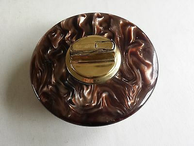 Table Lighter Brown Faux Marble Effect 1960's? By Fbm West Germany Good Cond