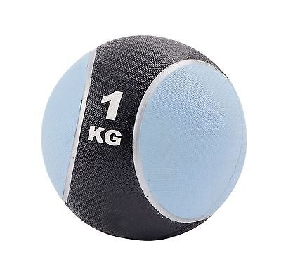 1kg Rubber Medicine Ball Weight Gym Lifting Exercise Strength Training Fitness