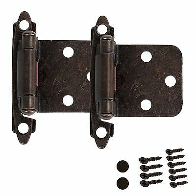 Kitchen Cabinet Hinges Self Closing Door Overlay Oil Rubbed Bronze Hardware