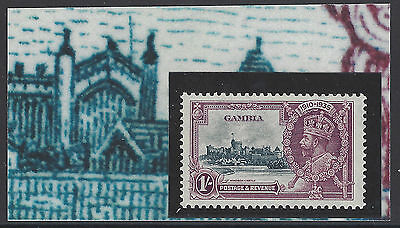 1935 KGV SILVER JUBILEE GAMBIA SG146c LIGHTNING CONDUCTOR UNMOUNTED MNH CV£395