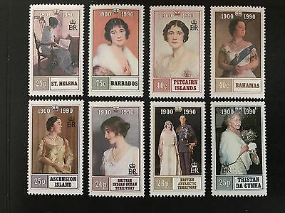 Queen Mother 90th birthday celebratory stamps