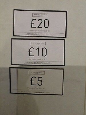 £35.00 Gift vouchers for the White company - unwanted present