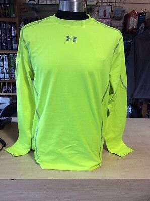 Under Armour Long Sleeved Base Layer Compression Fit Fuel Green Large