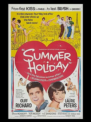 """Summer Holiday 1963 16"""" x 12"""" Reproduction Movie Poster Photograph 3"""