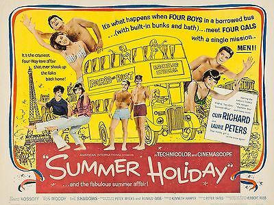 """Summer Holiday 1963 16"""" x 12"""" Reproduction Movie Poster Photograph 2"""