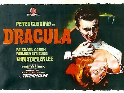 """Dracula 1958 16"""" x 12"""" Reproduction Movie Poster Photograph"""