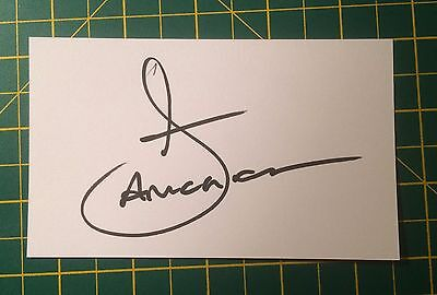 Hand Signed Daniel Amokachi Ex Everton Index Card & COA