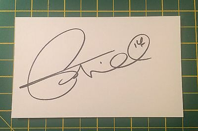 Hand Signed Tim Cahill Ex Everton Index Card & COA