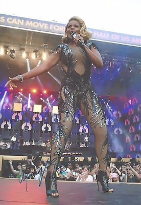 """Genuine 12""""x8"""" Hand Signed Photograph of Mary J Blige & COA"""