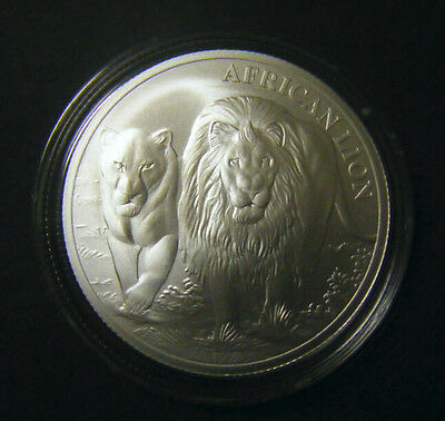 2016 Congo 1oz African Lion Silver bullion Coin 5000 Francs BU