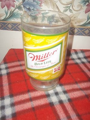 Vintage Miller High Life Beer Large 32 Ounce Glass Printed