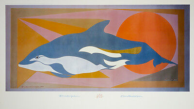 Ian Anderson - Blue Dolphin 1989 - Signed Limited Edition Art Print