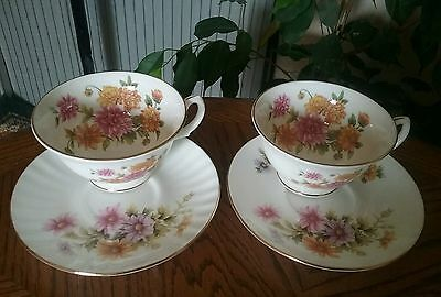 Duchess fine bone China,two cups and saucers