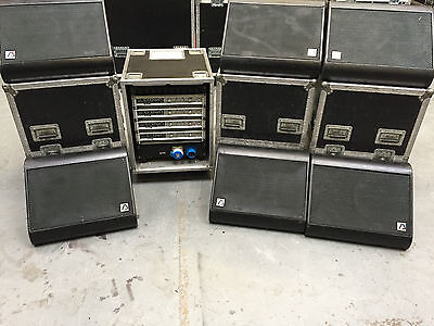 Audio Analsts Fr12 Stage Monitor Loudspeaker System With Crown Amps