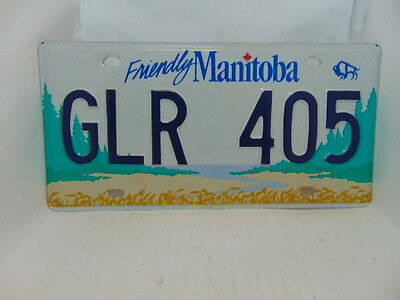 2000 Friendly Manitoba License plate #GLR 405