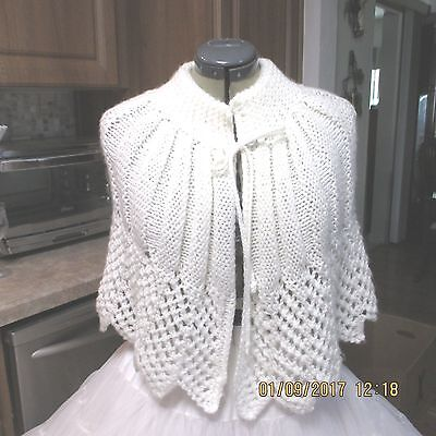 S-Sb-#9- Square Dance Dress Up Shawl,white Will Fit Sm Or Med