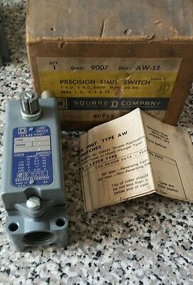 Square D 9007 AW-12 Ser C Limit Switch  NIB