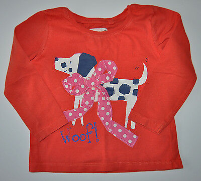 Next Baby Girl Long Sleeve Top Orange Age 12-18 Months Eur 86Cm Cotton