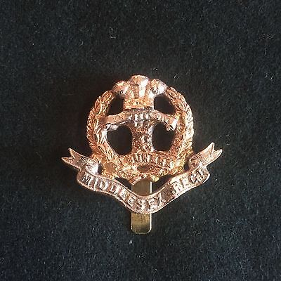 WW1 British army Middlesex cap badge reproduction