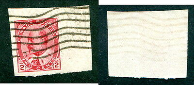 Used Canada 2 Cent King Edward Imperforate Stamp #90a (Lot #12568)