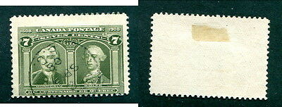 Used Canada 7 Cent Quebec Tercentenary Stamp #100 (Lot #12576)