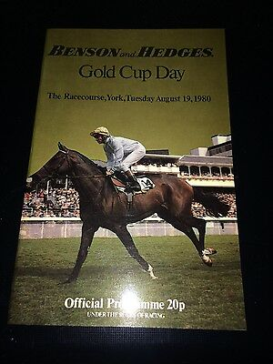 benson and hedges gold cup day York racecourse August 19th, 1980