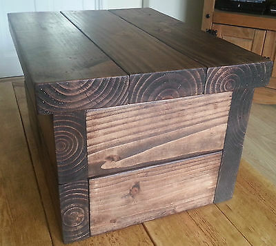 Bespoke Handmade Rustic Chunky Solid Wood Storage Box/Chest Made to order