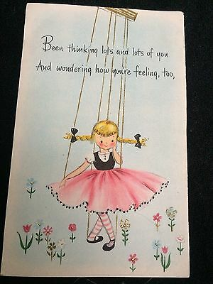 Vintage  Hallmark Card by Hall Brothers Inc. 25 CENTS FOLD OUT PRINTED BOTH SIDE