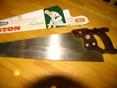 Disston Barrus 22 inch d-8 10 points vintage hand saw