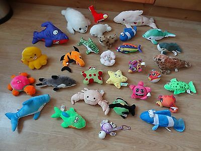 Bundle Of 30 Plush Soft SEA CREATURES 14 inches Long max