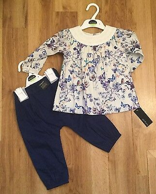 M&S Autograph Baby Girl set of top and Trousers 12-18 months BNWT £18.00