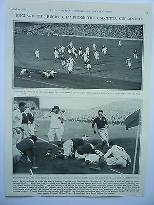 """"""" England The Rugby Champions: The Calcutta Cup Match."""" 1928. Rare."""