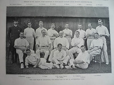 The Cape Team Of Cricketers. 1894.