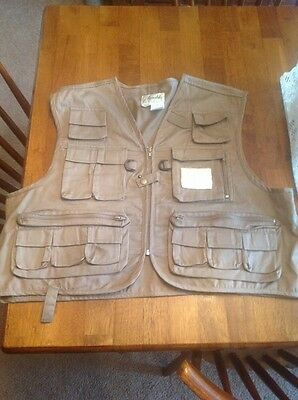 Ausable Tan Fishing Vest, Size Extra Large