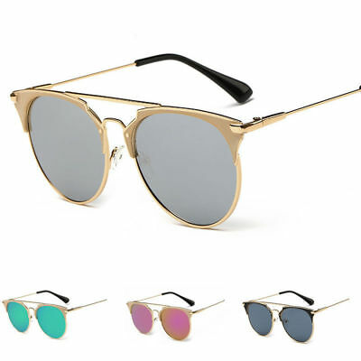 Women's Fashion Retro Mirrored Metal Frame Sunglasses Eyewear Ey Glasses