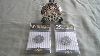 Harley Owners Group 25Th Anniversary Belt Buckle
